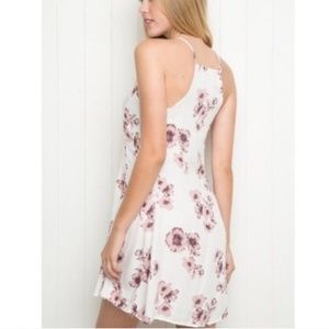 Brandy Melville white floral dress